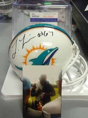 Laremy Tunsil Miami Dolphins Signed Mini Helmet Jsa 25527  W/ Proof