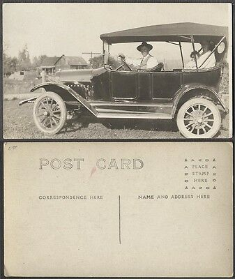 Vintage Car Photo Postcard Family in 1915 Maxwell Automobile 687404
