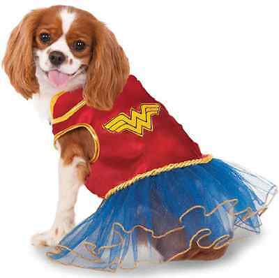 Wonder Woman Tutu DC Comics Superhero Fancy Dress Halloween Pet Dog Cat Costume