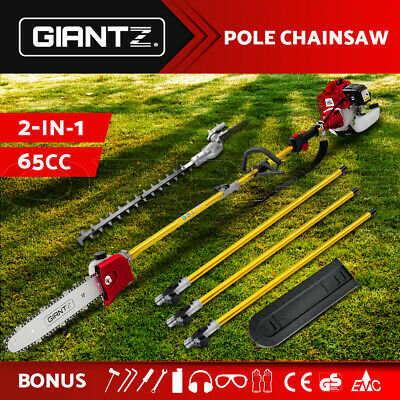 Giantz 75CC Pole Chainsaw Hedge Trimmer Pruner Chain Saw Brush Cutter Long