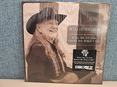 "WILLIE NELSON- Roll Me Up And Smoke Me 7"" (NEW Green Vinyl RSD 2013) Snoop Dogg"