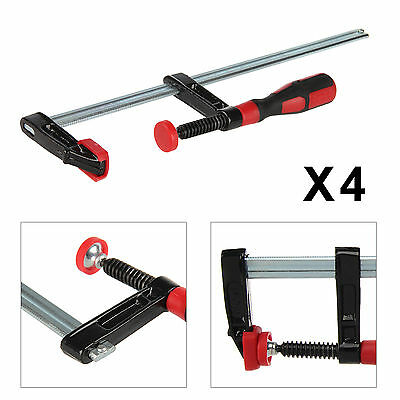"""4pc F Clamps Bar Clamp Heavy Duty 300mm x 50mm 12"""" Long Quick Slide Wood Clamp"""