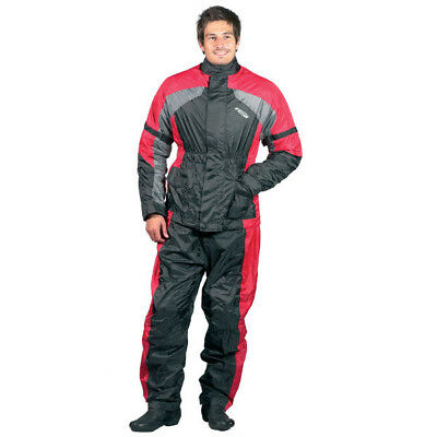 Spada 410 100% Waterproof Motorcycle Motorbike Two Piece Oversuit Black/red