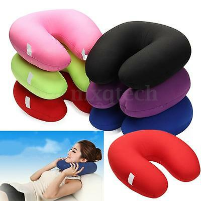 U Shaped Comfort Microbead Travel Neck Pillow Cushion Sleep Support Pain Relief