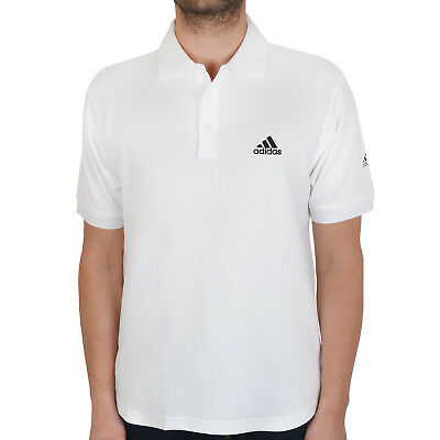 adidas Golf Mens Stretch Short Sleeve Relaxed Fit Pique Polo Shirt - White - M