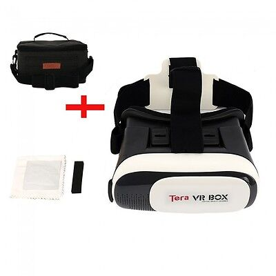 VR Headset Glasses Virtual Reality Set Google Cardboard with Carry Case Bag