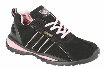 c503b347f3c LADIES SAFETY TRAINER Trainers Work Safety Ottawa Boot Steel Toe Cap Black  Size