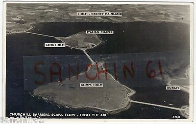 Churchill Barriers Lambholm Scapa Flow Glimps Holm Burray Orkney Islands C1945