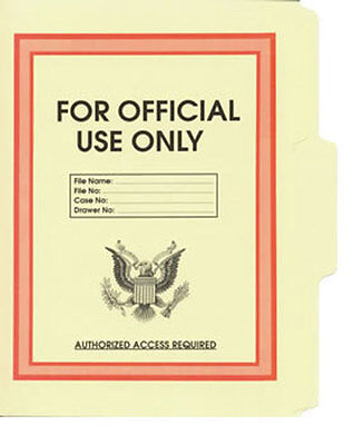 Official Use Only File Folder 5-Pack