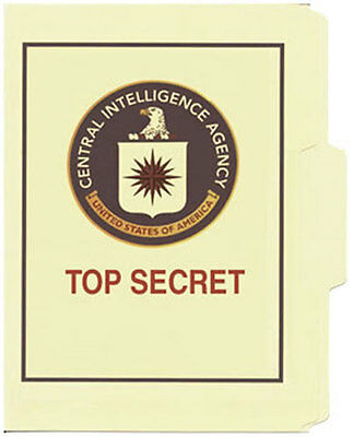 CIA Top Secret File Folder 5-Pack