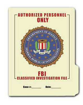 FBI File Folder 5-Pack