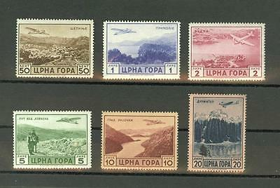 WWII Italian Occ. of Montenegro  Sc. 2NC18-2NC23 MNH airmail issue