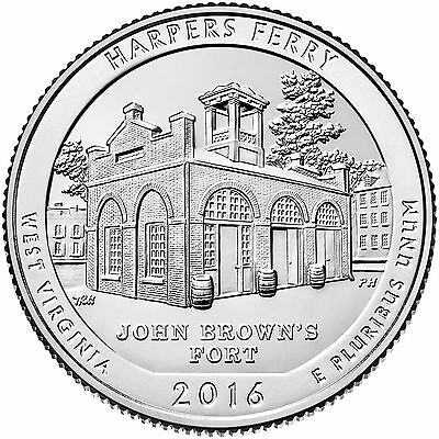 National Park Quarter 2016, Harpers Ferry - West Virginia, D/ P/ S, VersandFREI