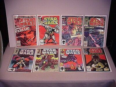 1980's Star Wars Comics 8 Comic Books #62 - #93 vintage Marvel space sci-fi