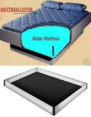 Zipper Cover with 12 mil Safety Liner For Queen Hardside Waterbed Mattress