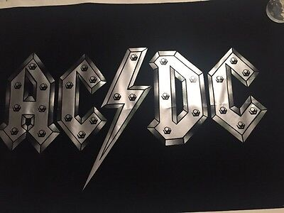 Vintage 1980's 1970's Black Light Velvet Poster AC/DC #965 - NOS originals