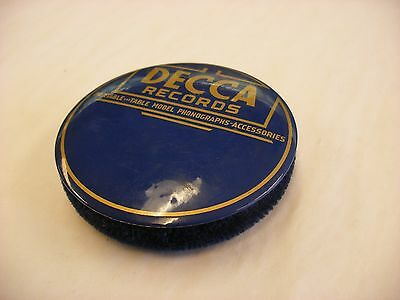 Phonograph Victrola Gramophone - Record Duster Ceaner - Decca - Blue