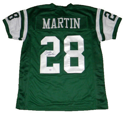 784587768a4 Curtis Martin Signed Autographed Ny New York Jets #28 Green Jersey Psa/dna