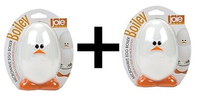 Joie Boiley Microwave Egg Boiler Gadget Face Cooking Breakfast Deviled 2-Pack