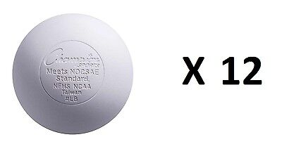 Champion Lacrosse Ball Official NFHS NCAA Massage Therapy-WHITE (12-pack)