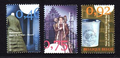 Belgium 2007 Small Museums Set 3 MNH