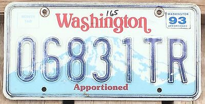 Washington 1988 - 1993 APPORTIONED TRAILER License Plate!