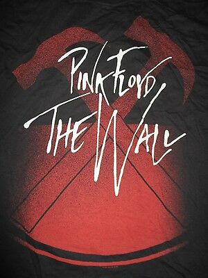 """2008 Retro PINK FLOYD """"THE WALL"""" (XL) T-Shirt Hammer ROGER WATERS"""