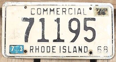 Rhode Island 1968 - 1972 COMMERCIAL License Plate 71195!
