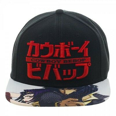 Cowboy Bebop Spike & Faye Sublimated Bill Snapback Cap Hat New W/ Tag Official