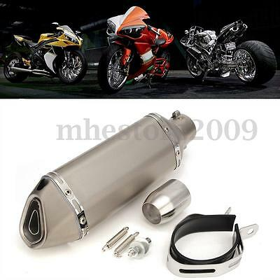 38-51mm Motorcycle Stainless Exhaust Muffler w/ Removable Silencer Street Bike