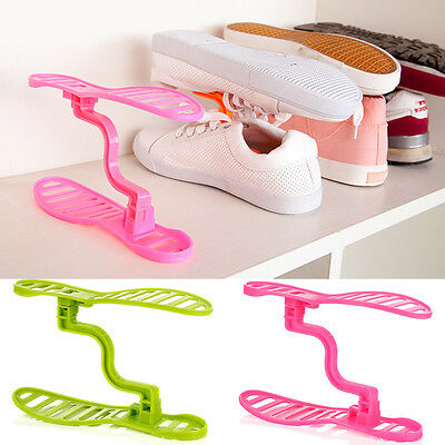 DIY Handy Design for Shoes Organizer Stackable Space Saving Shelves Home Stand