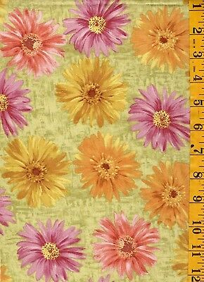 "1Y15""  Quilting Sewing Cotton Fabric Timeless Floral Daisy Haze by Tim Coffey"