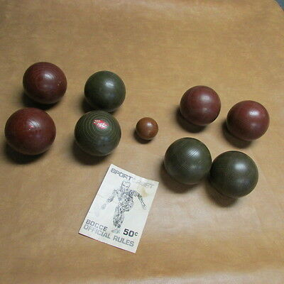 Sport Craft Bocce Ball-Turf Bowling Made in Italy Vintage