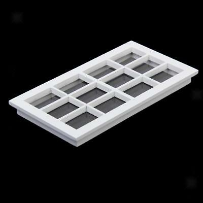 1/12th Miniature White Wooden 12-Pane Window Frame for Dolls House Furniture
