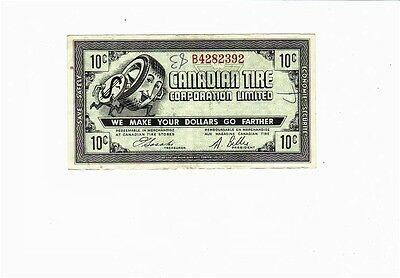 1962 10c CTC CANADIAN TIRE MONEY NOTE coupon gas bar B4282392