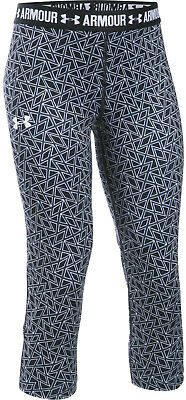 Under Armour Printed Armour Capri Junior 3/4 Running Tights - Black