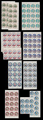 Rare Blocks Of 15,20,12,6 Complet Issue Mnh 1960 Olympic Rome Sct 525 - 29 C115+