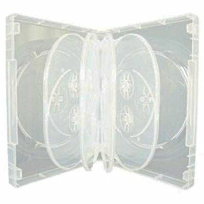 Masterstor (Pack Of 4) CD / DVD / BLU RAY 36mm Clear DVD 10 Way Case For 10 Disc