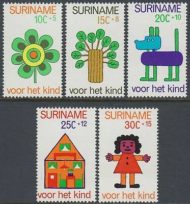 Suriname 1973 ** Mi.658/62 Kinderzeichnungen Child's Drawings [st0711]