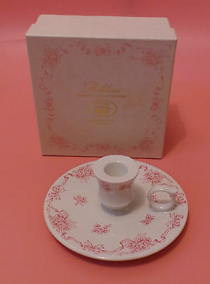 Laura Ashley CANDLE HOLDER Ribbons In Pink BOXED