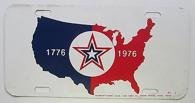 1976 STAR & MAP OF USA BICENTENNIAL BOOSTER License Plate