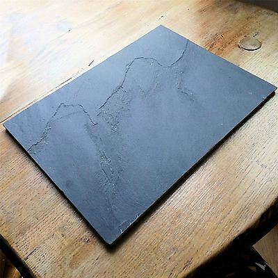 4 Natural Slate Placemats Stone Rustic Dining Tableware Country Set