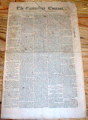 Orig1799 Connecticut Courant HARTFORD newspaper Independence Day speech SUFFIELD