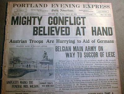10 WW I newspapers 1914-1918 w/ LARGE banner headlines