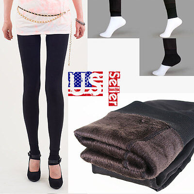 New Thick Warm Fleece lined Fur Winter Tight Pencil Leggings Sexy Pants USSeller