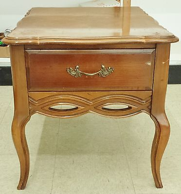 Bassett French Provincial Maple Nightstand Accent End Side Table W/drawer
