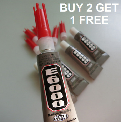 Industrial Strength E6000 Glue 5.3ml for Rhinestones Crystals With Nozzle