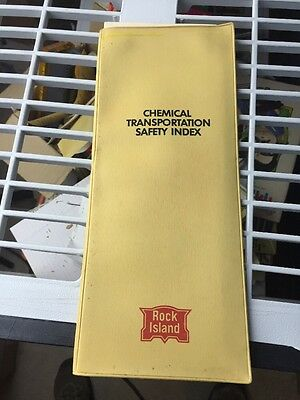 1969 Rock Island Railroad Chemical Safety Index For Trainmen