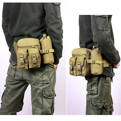 Tactical Hiking Camping Cycling Waist Fanny Pack Water Bottle Pouch Bag