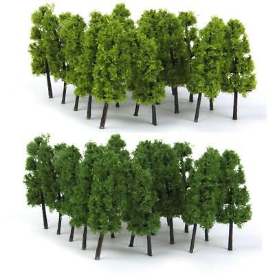 Pack of 20 Model Tree Train Railway Forest Wargame Scenery Layout Z Scale